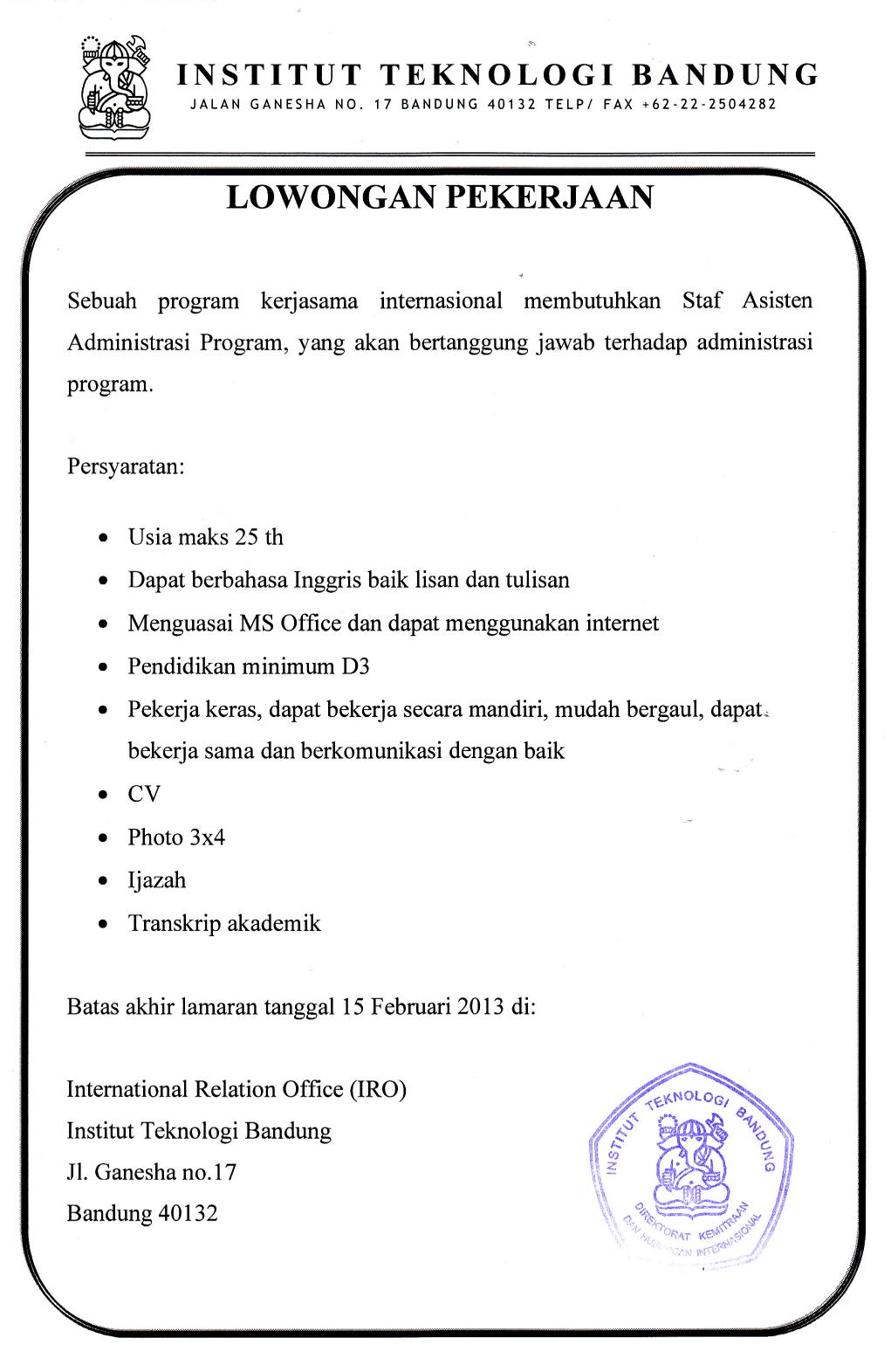 Info kerja