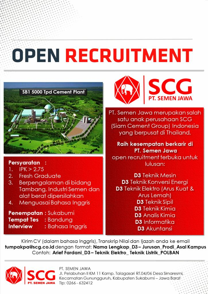 Jpac Polban Loker Job Vacancy Di Pt Semen Jawa